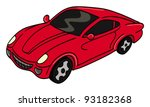 cartoon vector illustration of... | Shutterstock .eps vector #93182368