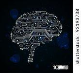 circuit board vector background ... | Shutterstock .eps vector #93193738