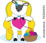 A Ewe Is In A Yellow Armchair ...