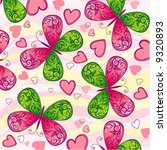 background with butterfly and... | Shutterstock .eps vector #9320893
