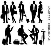 people while traveling   vector ... | Shutterstock .eps vector #93215404