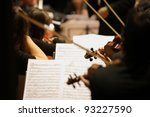 violinists during a classical... | Shutterstock . vector #93227590