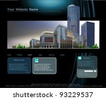 web template with modern...   Shutterstock .eps vector #93229537
