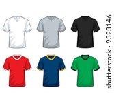 v neck t shirt | Shutterstock .eps vector #9323146