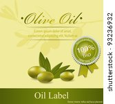 olive oil label pattern | Shutterstock .eps vector #93236932