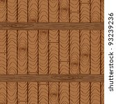 seamless wooden pattern with... | Shutterstock .eps vector #93239236