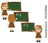 nice teacher near board | Shutterstock .eps vector #93254866