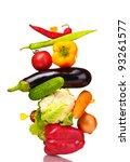 fresh vegetables isolated on... | Shutterstock . vector #93261577