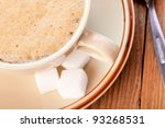 cup of coffe on wooden table | Shutterstock . vector #93268531