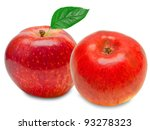 red apple isolated on white...   Shutterstock . vector #93278323