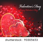three transparent hearts in a... | Shutterstock .eps vector #93305653