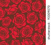 the seamless of a red roses on... | Shutterstock .eps vector #93309070