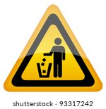 Vector No Littering Sign  Eps10