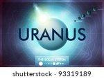 vector solar system   planet... | Shutterstock .eps vector #93319189