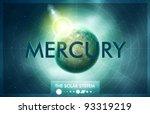 vector solar system   planet... | Shutterstock .eps vector #93319219
