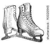skates ice cartoon sketch... | Shutterstock .eps vector #93320545