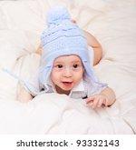 portrait of cute little baby...   Shutterstock . vector #93332143