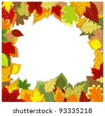 Autumnal frame with falling leaves for seasonal design. Jpeg version also available in gallery - stock vector