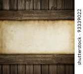 paper on wood background or... | Shutterstock . vector #93339022