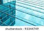 blue glass texture of modern...   Shutterstock . vector #93344749