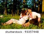 lovely couple in ukrainian... | Shutterstock . vector #93357448