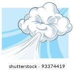 windy cloud | Shutterstock .eps vector #93374419