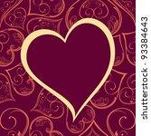 Vector Pattern Heart Shape...