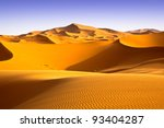 Moroccan Desert Landscape With...