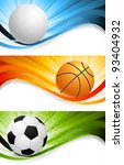 set of bright sport banners | Shutterstock .eps vector #93404932