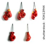 boxing gloves collage | Shutterstock . vector #93413944
