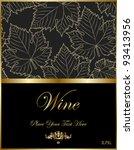 Wine Black Elegant Label
