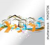 vector buildings design with...   Shutterstock .eps vector #93420736