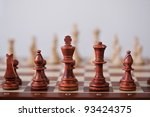 chess game abstract background - stock photo