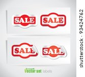 red sale stickers | Shutterstock .eps vector #93424762