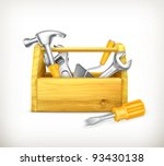 Wooden Toolbox  10eps