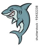danger cartoon shark logo... | Shutterstock .eps vector #93432238