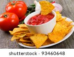 Bowl Of Salsa With Tortilla...