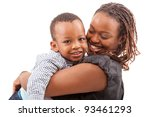 Young Afro American Mother Wit...
