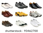 Various Shoes Isolated On The...