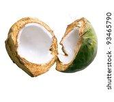 fresh green young coconut split ... | Shutterstock . vector #93465790