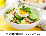 Potato Salad With Egg Radishes...