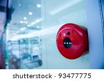 fire alarm on the wall of... | Shutterstock . vector #93477775