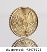 50 Cents Euro Coin  Reflected...