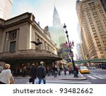 NEW YORK CITY - NOV. 3:  Historic NYC, Grand Central Terminal as seen from the street on Nov. 3, 2011. The world's largest train station, Grand Central has more than 44 platforms and 67 tracks. - stock photo