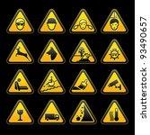 warning symbols safety signs set | Shutterstock . vector #93490657