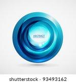 Vector Blue Swirl