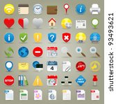 highly detailed vector icons...   Shutterstock .eps vector #93493621