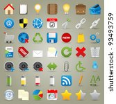 highly detailed vector icons... | Shutterstock .eps vector #93493759