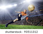 football player on field of... | Shutterstock . vector #93511312