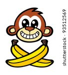 Pirate Monkey - stock vector